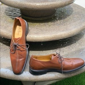 Cole Haan tan wing tip lace shoes